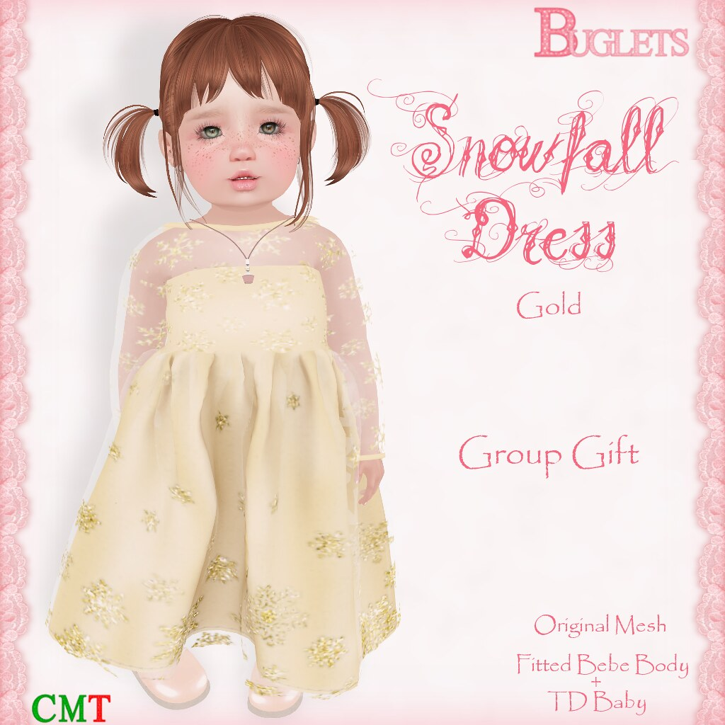 Snowfall Dress [Gold] (GG) AD