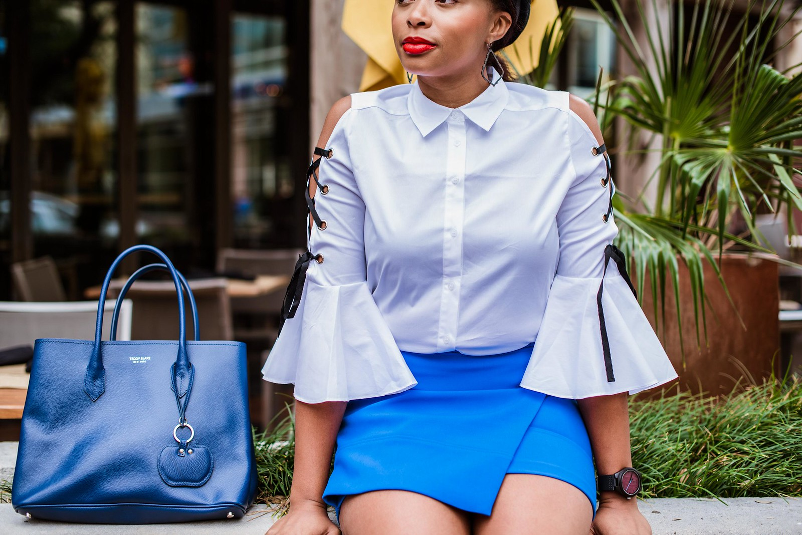 how to style a statement sleeved shirt, candace hampton