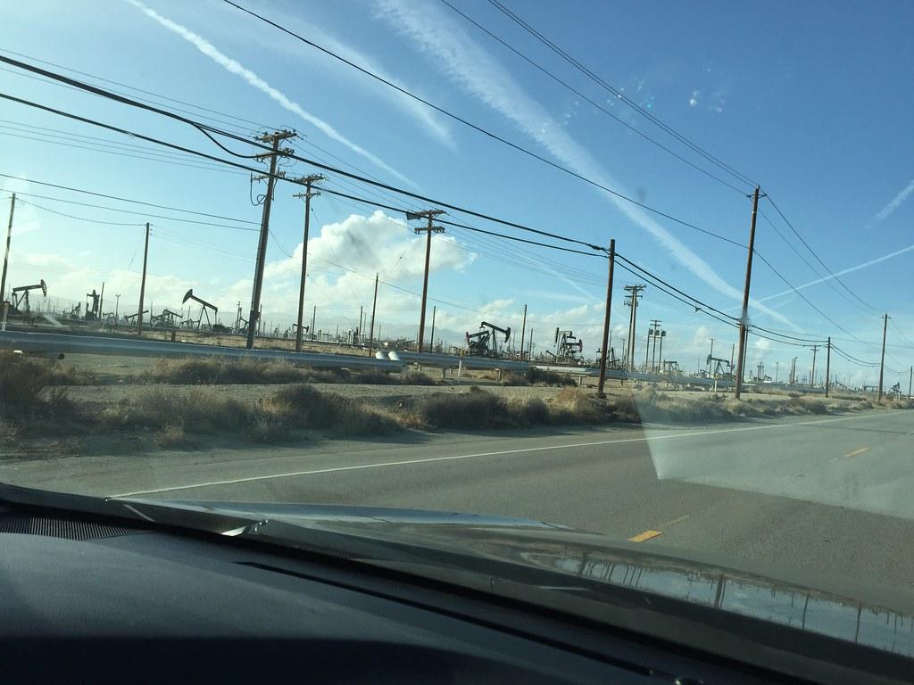 Petroleum Highway & the Oil Derricks