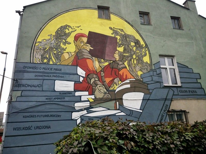 "Mural, dr Chris Kelvin, ""Solaris"" by Stanisław Lem, author Dagmara Matuszak, September 2017"