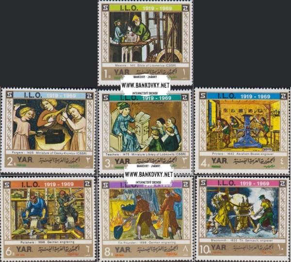 Známky Jemen 1969 Organizácia práce, razená séria