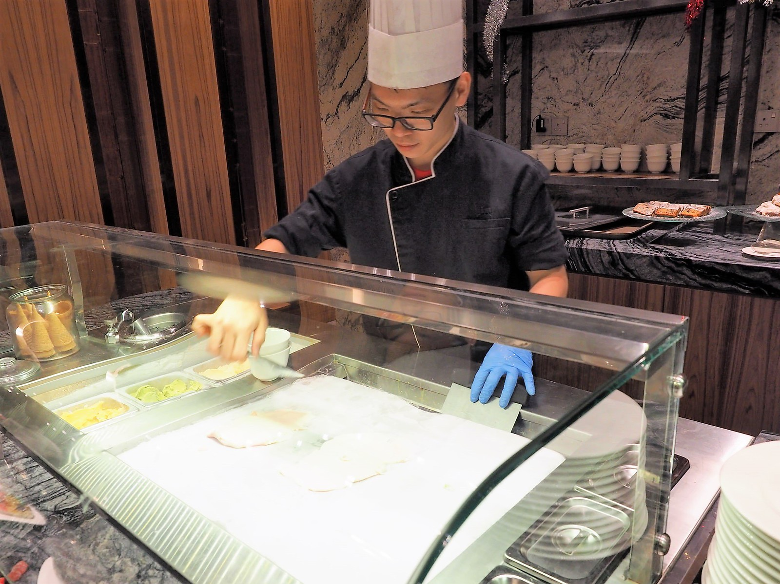 Ice cream chef at Feast @ Sheraton Petaling Jaya