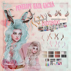 .Olive. the {Penelope Jackalope Hair Gacha @ Lootbox
