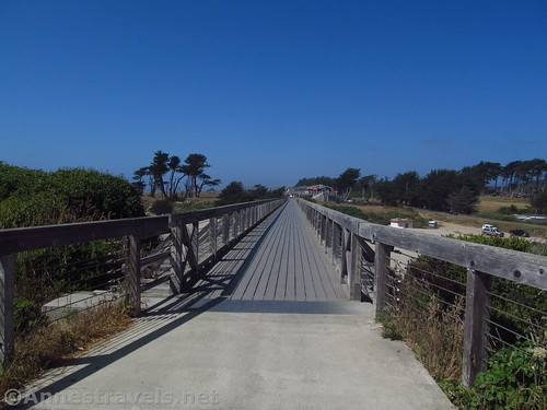 About to cross the Pudding Creek Trestle north of Glass Beach, California