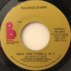 MAURICE STARR:BOUT TIME I FUNK U(LABEL SIDE-A)