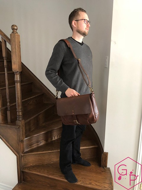 Review @SatchelandPage Brown Leather Slim Mailbag 3