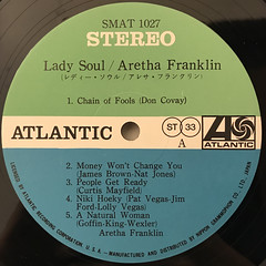 ARETHA FRANKLIN:LADY SOUL(LABEL SIDE-A)