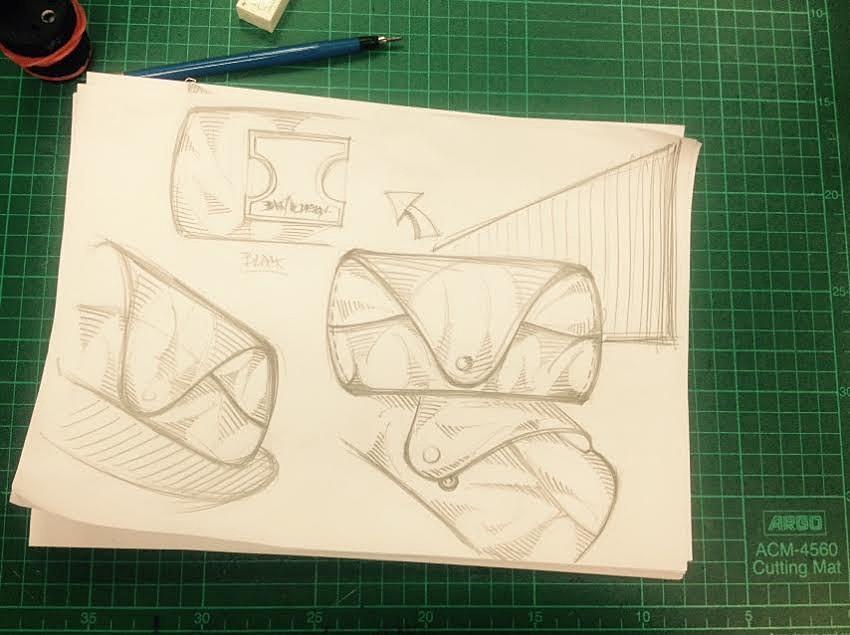 glassess case leather design