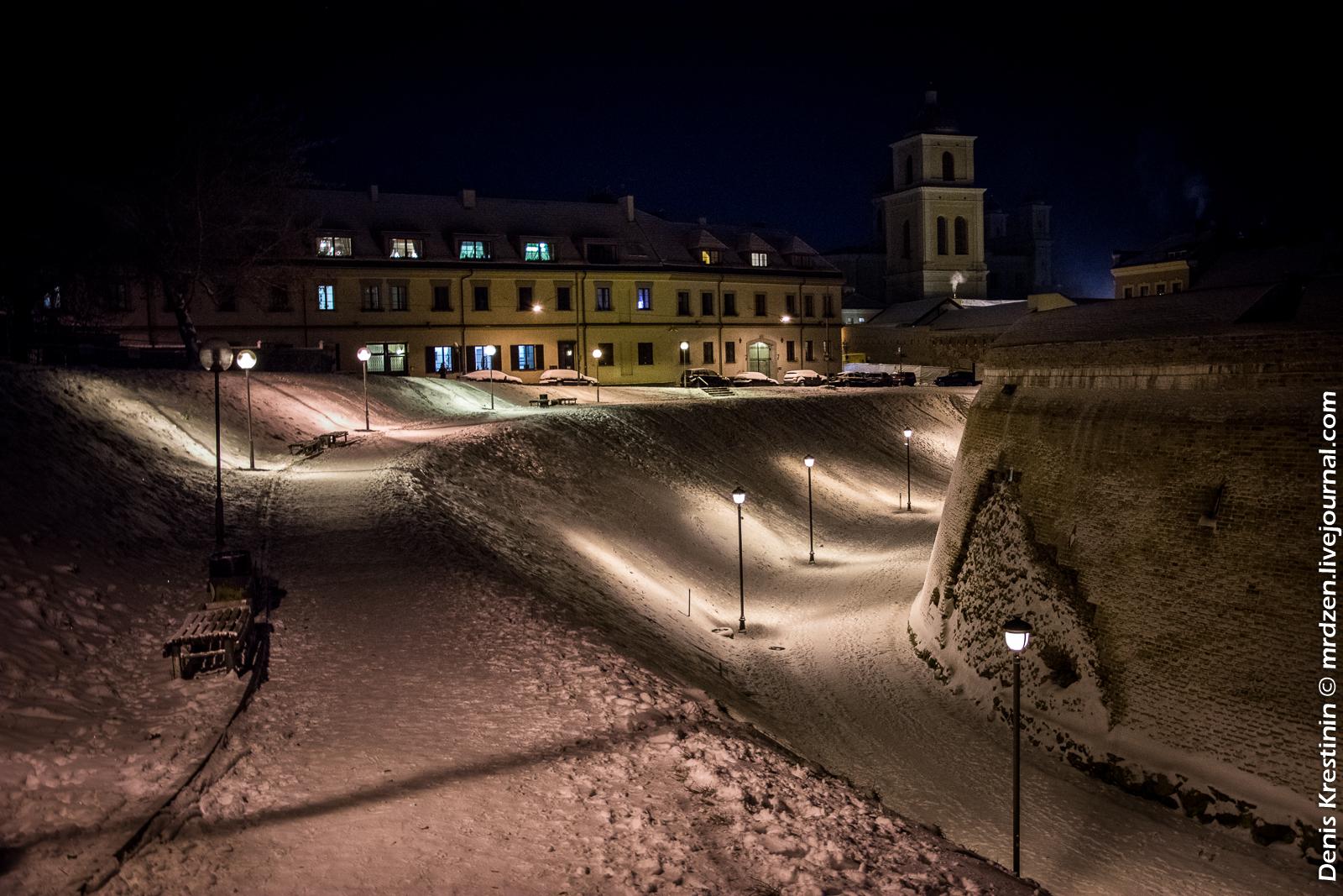 Вильнюс. Ночной артиллерийский бастион