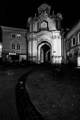4 Aušros Vartų g. by night, Vilnius, Lithuania