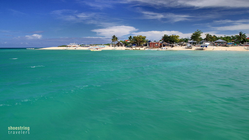 the sandbar and southwestern beach of Hilantagaan
