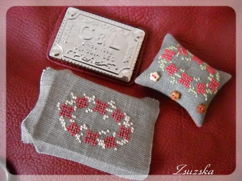 cross stitch, flower,