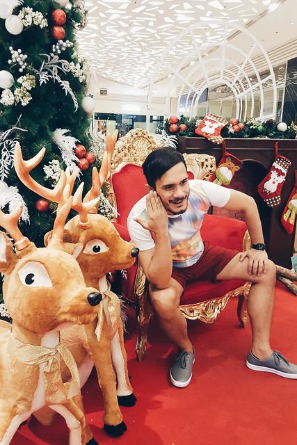 halfwhiteboy - holiday reindeer fun in maroon shorts 07