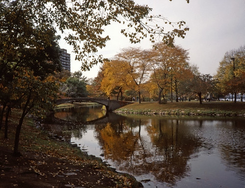 Charles River Esplanade in Autumn - Kodachrome -  2002