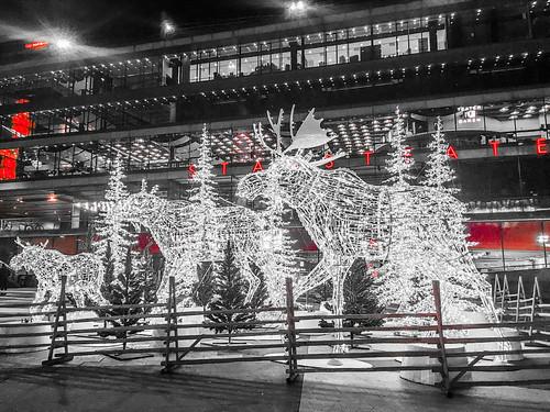 stockholm, sweden, december 2017 - christmas lights