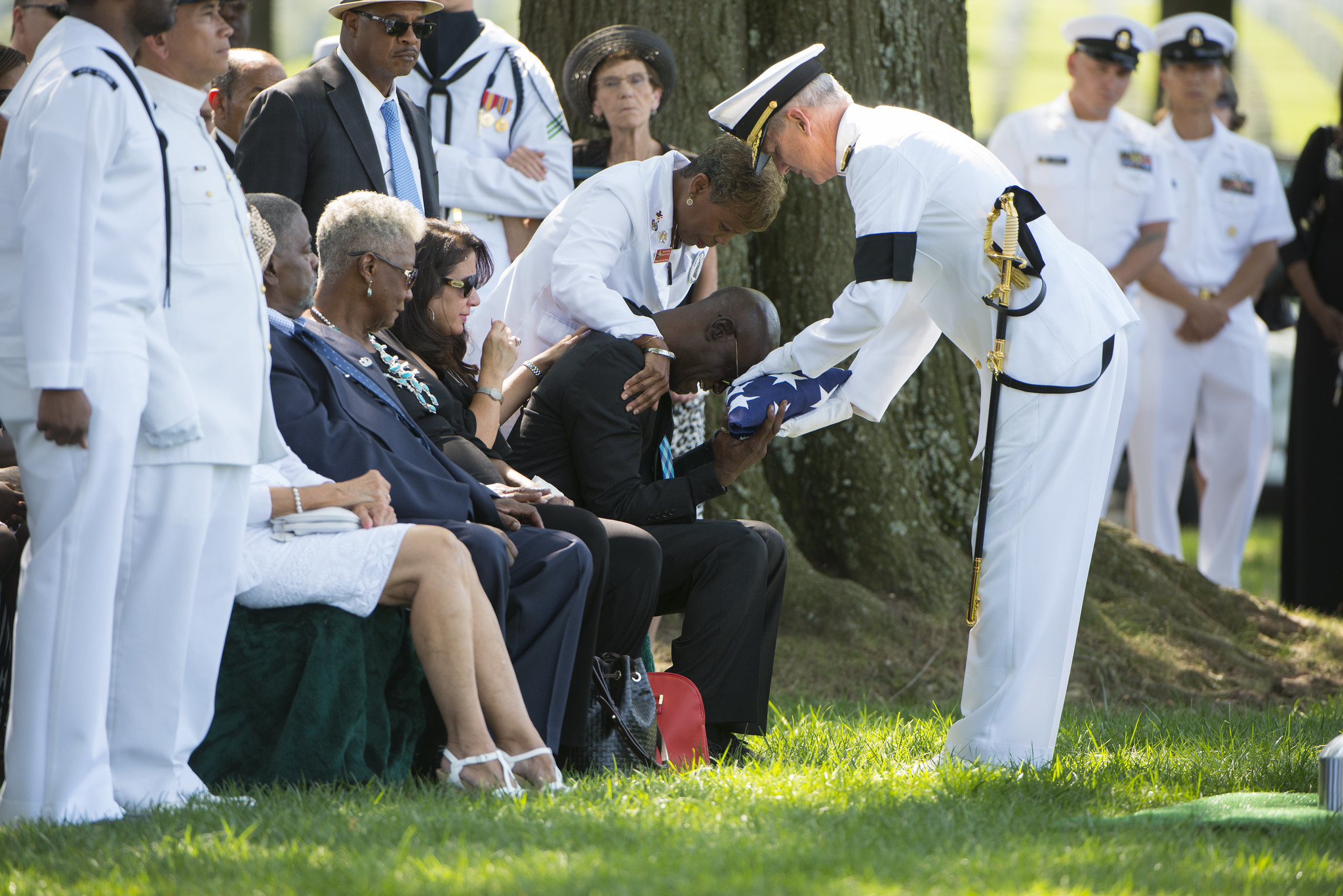 Funeral for U.S. Navy Petty Officer 1st Class Xavier A. Martin at Arlington National Cemetery