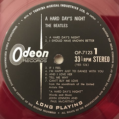 THE BEATLES:A HARD DAY'S NIGHT(LABEL SIDE-A)