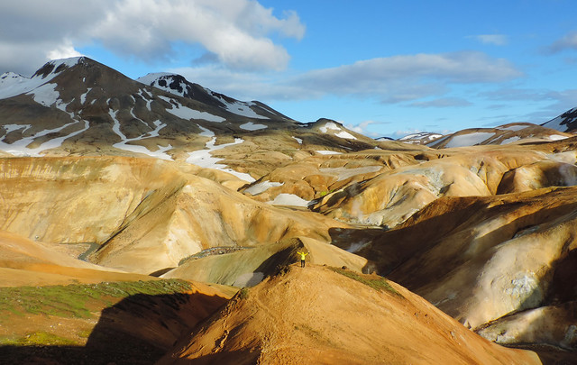Conquering a peak in the Highlands of Iceland