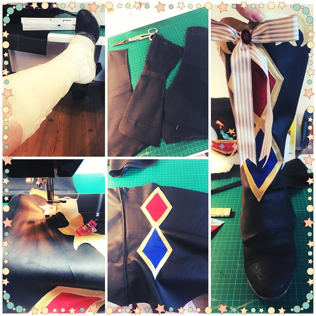 Making of Maki's boots