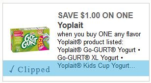 picture regarding Meijer Printable Coupons identified as $1.00 Yoplait GoGurt at Meijer with Printable Coupon This
