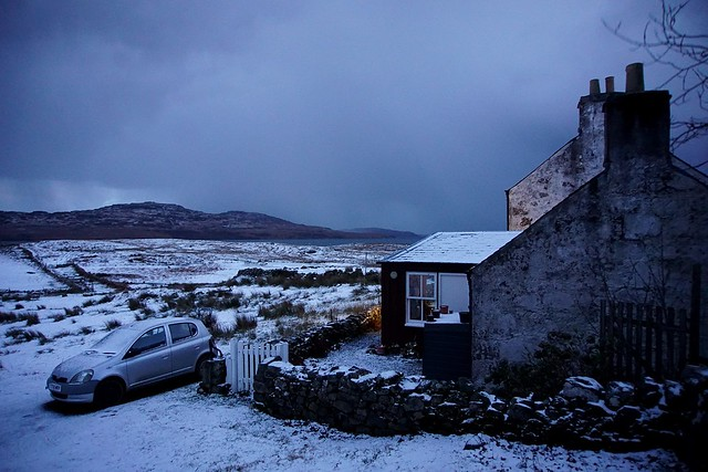 Morning surprise: Winter has arrived. Kilbrennan, Isle of Mull, Scotland.