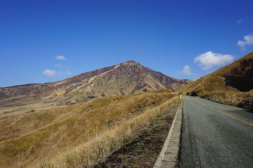 この道は熊本地震から10月に復旧したばかり。kucc一番乗りかな?