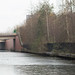 The frozen Bridgewater Canal, Old Trafford