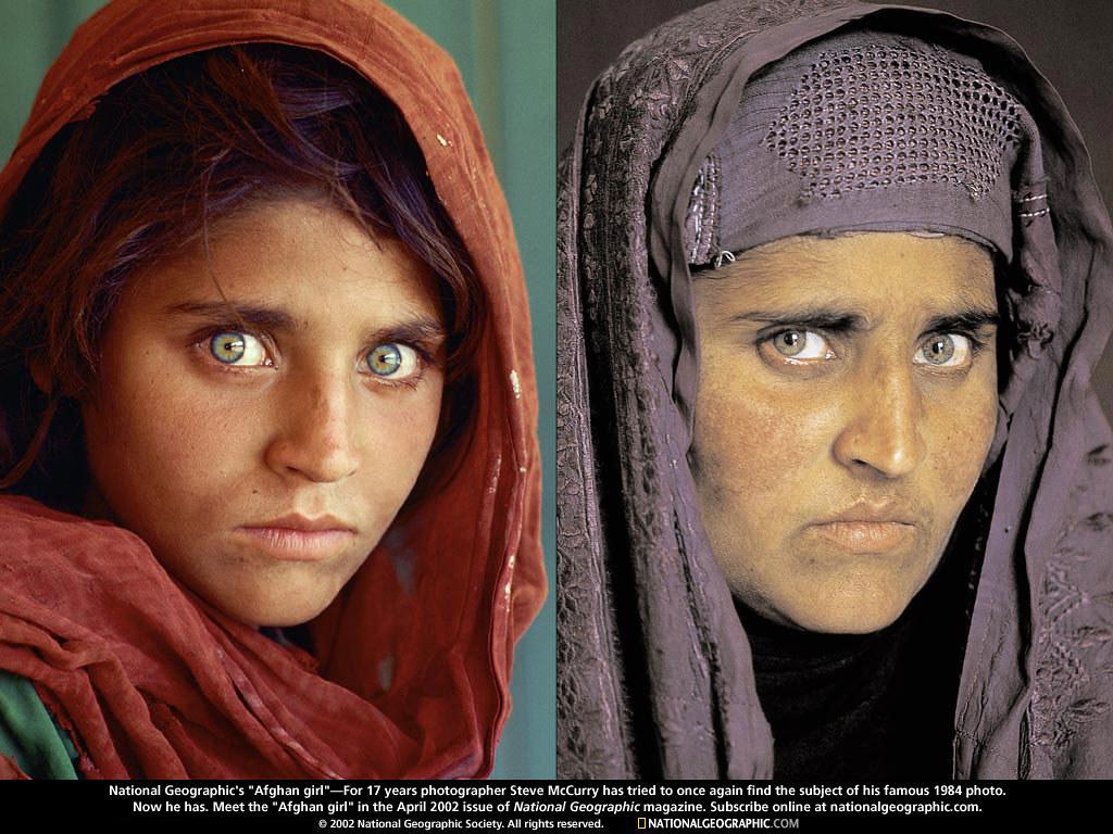 02.- A Menina Afegã - 1985 e 2002