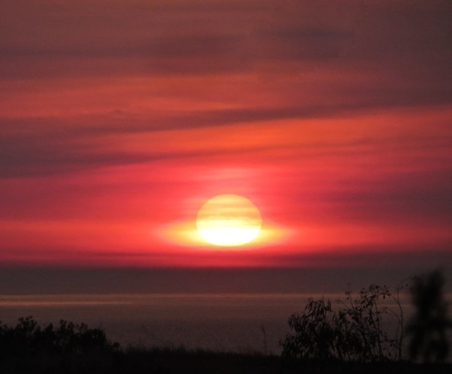 friday sunset fire light