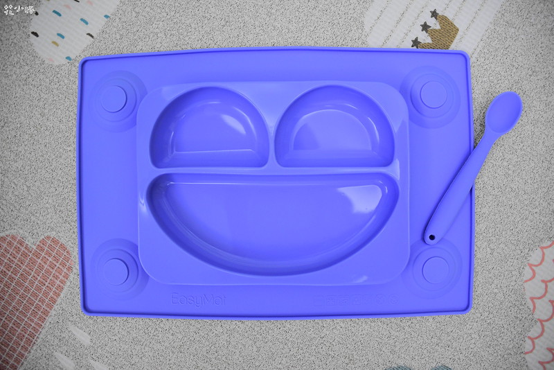 easymat餐盤防拔嬰兒餐具吸盤嬰兒餐具推薦嬰兒副食品餐具推薦EasyMat防滑矽膠餐盤 (2)