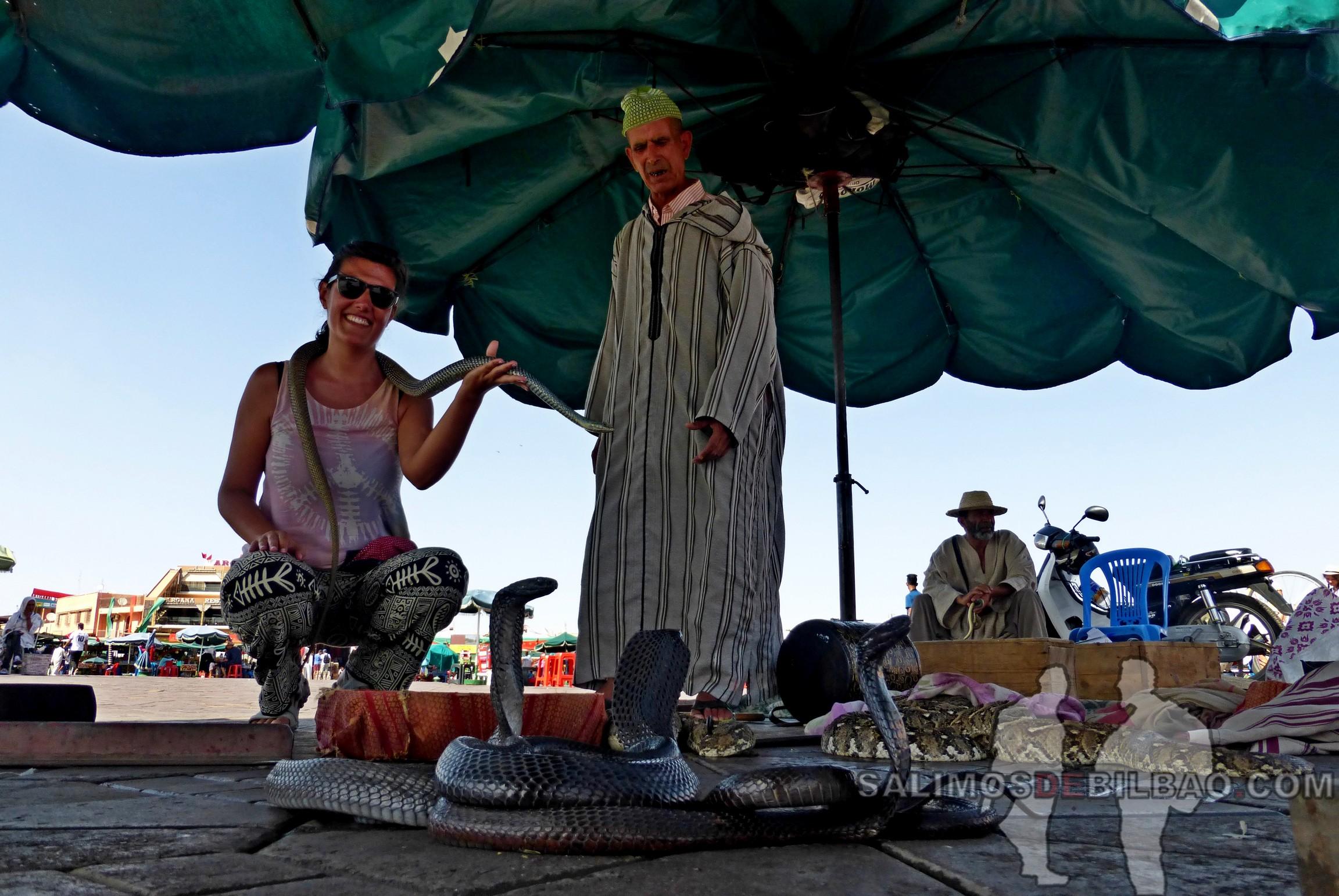 699. Saioa con las serpientes, Marrakech