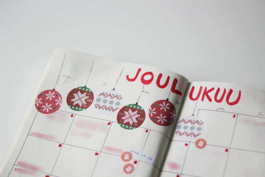 joulukuu bullet journal