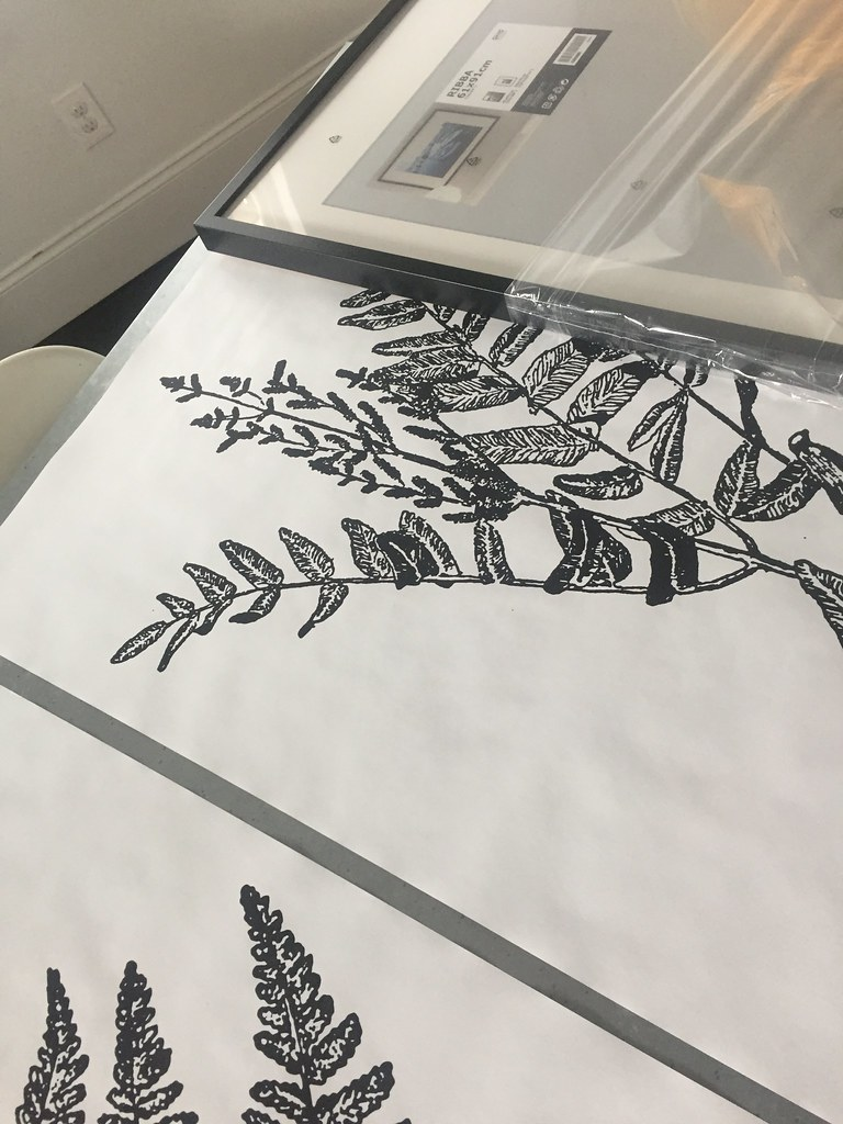 DIY Giant Botanical Art
