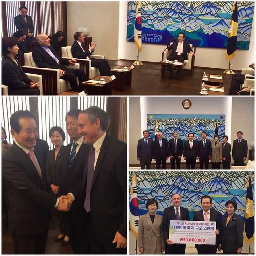 La Asamblea Nacional de Corea dona 30 millones de wones para apoyar la reconstrucción en México