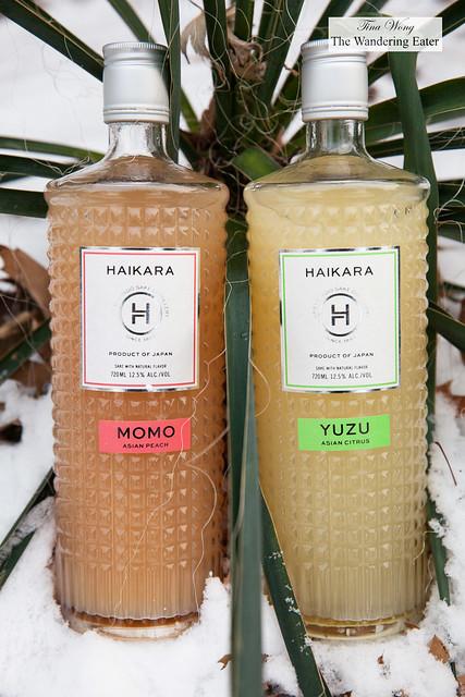 Haikara Sake - Momo (peach) and Yuzu flavored sakes