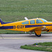 D-EIZF - 1978 build Beech F33A Bonanza, taxiing for departure on Runway 24 at Friedrichshafen during Aero 2017