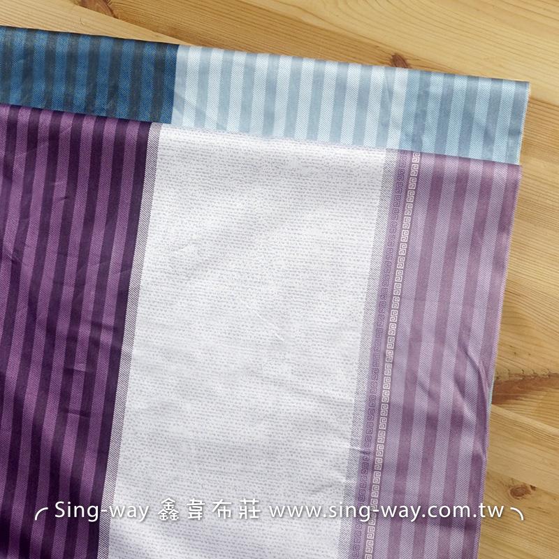 條紋 變化直條紋 精梳棉床品床單布料 CA490368