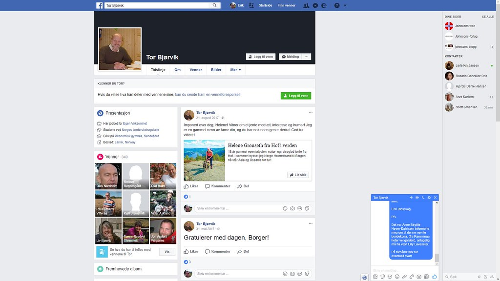 mer fra facebook tor bjørvik