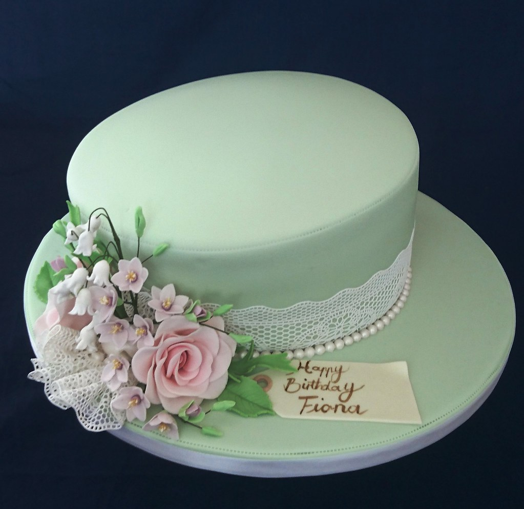 Hat Styled 80th Birthday Cake