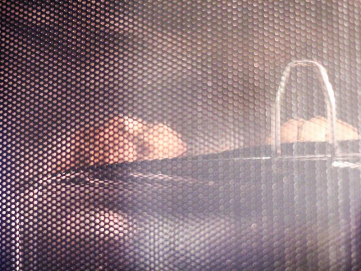 In de oven