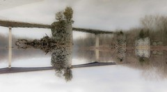 Reflection: Rumsey Bridge and Stone Piers