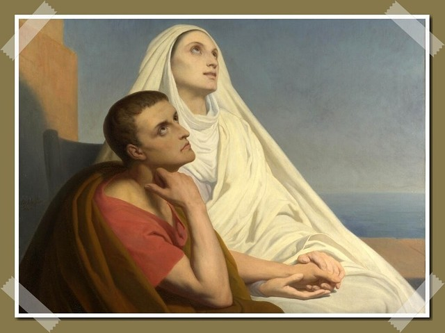 Saint Augustine and his mother, Saint Monica by Ary Scheffer (painting from 1846)