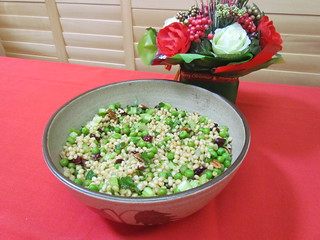 Wheat Berry and 'Green Bean' Salad with Dried Cranberries and Celery