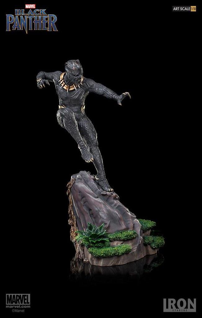 覬覦王位的瓦干達流亡者!! Iron Studios Battle Diorama 系列《黑豹》艾瑞克·齊爾蒙格 Erik Killmonger 1/10 比例決鬥場景雕像作品