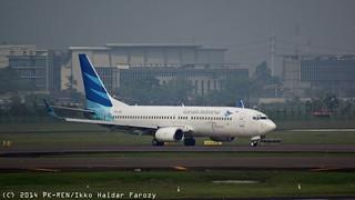 Garuda Indonesia Boeing 737-83N; @CGK 2014