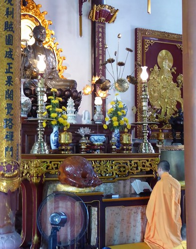 Out of the white robes, the monks and nuns of TTDHC perform their monastic duties at the temples.