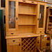 Solid maple glass door kitchen dresser E200 reduced