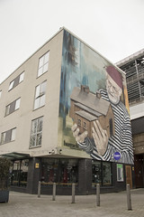 The importance of home: mural on Barrack St, Cardiff, Wales