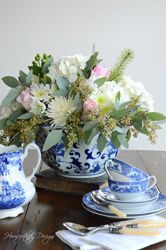 Blue and White Vignette-Housepitality Designs-2