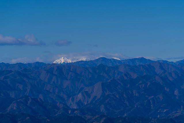 真っ白な赤岳@丸山